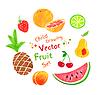 Filzstift Obst