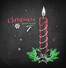 Angekreidet rote Weihnachtskerze