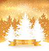 Christmas gold Hintergrund | Stock Vektrografik
