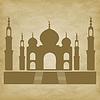 Taj Mahal auf Grunge-Hintergrund