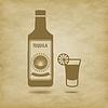Flasche Tequila