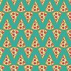 Pizza seamless pattern