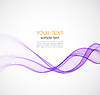 Abstract background, purple wavy | Stock Vector Graphics