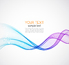 Abstract background, blue wavy | Stock Vector Graphics