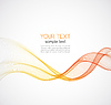 Abstract background, futuristic wavy | Stock Vector Graphics