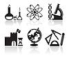 Icons mit Schulfächern