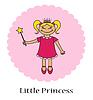 Векторный клипарт: маленькая принцесса