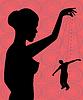 Векторный клипарт: зависимость от женщин