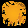 Halloween background.vector illustration