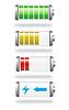 Векторный клипарт: уровень заряда батареи и заряда