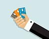 Bequemlichkeit der Zahlung per Kreditkarte