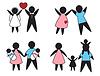 Векторный клипарт: семейные ценности