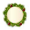 Runde Weihnachtskranz aus Tannenzweigen
