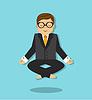 Vektor Cliparts: entspannen bei der Arbeit