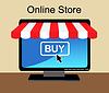 Online-Shopping in den Computer
