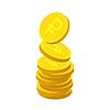 Goldmünzen mit russischen Rubel-Zeichen