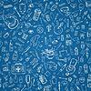 Medizin doodle nahtlosen Hintergrund