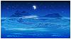 Векторный клипарт: заросшие берега ночью