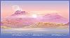 Векторный клипарт: заросшие берега утром