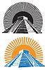 Векторный клипарт: древние пирамиды