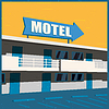 Vektor Cliparts: Motel altes Plakat