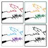 Vektor Cliparts: stilisierte Seismogramme