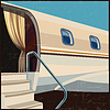 Private Luftfahrt Retro-Poster | Stock Vektrografik