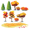 Vektor Cliparts: Herbst Pflanzen