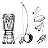 Коллекция музыкальных инструментов | Векторный клипарт