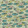 Nahtlose Muster mit Wasserlilie