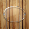 Holz Textur mit Glasrahmen