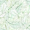 Nahtlose mit grünen Federblätter