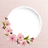 Spring background with pink cherry flowers   Stock Vector Graphics