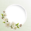 Spring background with white cherry flowers   Stock Vector Graphics