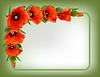 Red poppies floral frame   Stock Vector Graphics