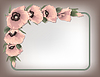 Pink poppies floral frame   Stock Vector Graphics