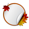 Round Banner mit Herbstlaub