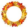 Herbst Banner mit Blättern