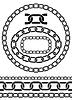 Kette Symbolen, Teile, Kreise von Ketten