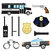 Set Polizei Objekte