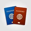 Векторный клипарт: Синий и красный паспорта