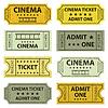 Retro cinema tickets | Stock Vector Graphics