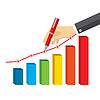 Векторный клипарт: Концепция с ручной записи диаграммы Финансы графа