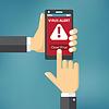 Векторный клипарт: Вирус на концепции мобильного телефона