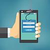 Data Phishing with fishing hook | Stock Vector Graphics