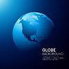 Blue globe Erde Hintergrund