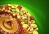 Casino Hintergrund mit Chips, Craps und Roulette