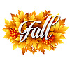 Векторный клипарт: Осень типографская. Падение листьев