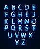 Векторный клипарт: Низкий поли шрифта Cristal алфавит
