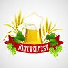Векторный клипарт: Октоберфест фон с пивом. Шаблон плаката